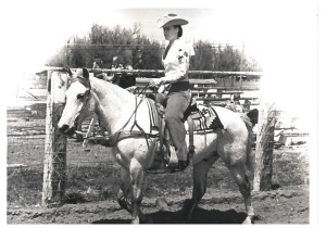 Treva Creed will soon be back in the saddle again!   Photo taken 1966