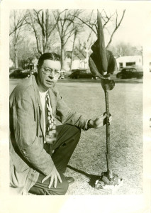 """H. D. Harrington with a """"bad smelling lilly"""""""