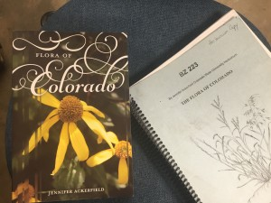 "Before and after - Herbarium copies of ""The Flora of Colorado"" by Jennifer Ackerfield"