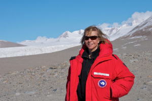 Professor Wall is studying ecosystem responses to climate change as part of the McMurdo Dry Valleys Long Term Ecological Research program. Photo: Martijn Vandegehuchte